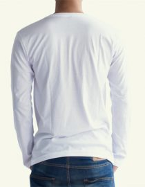 Kaos Polos Lengan Panjang Putih V Neck Konveksi Jual Grosir Kaos Polos Polo Shirt Raglan Sablon Murah